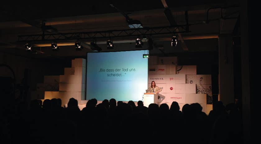 re:publica-Bühne, Publikum im Vordergrund