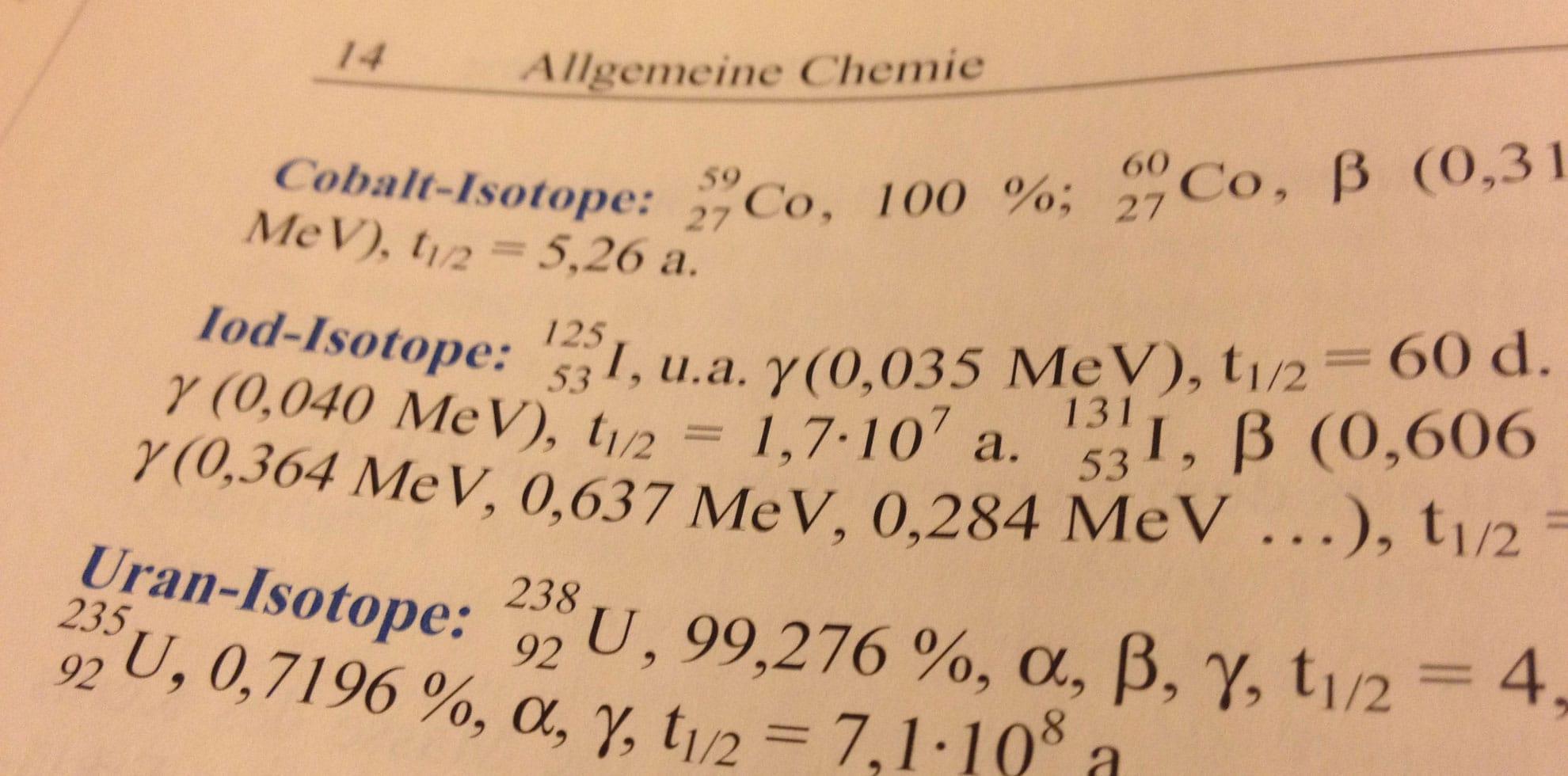 Chemische Formeln